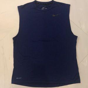 Nike tank blue dri fit size L
